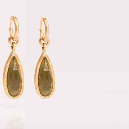 Cercei din Aur de 18K, Vasonite și Diamante