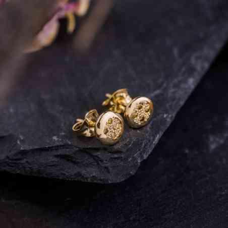 Cercei din Aur de 14K cu Diamante