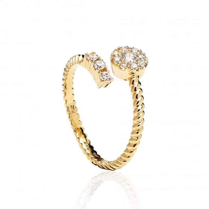 Inel Logodnă din Aur Galben 18K cu Diamante