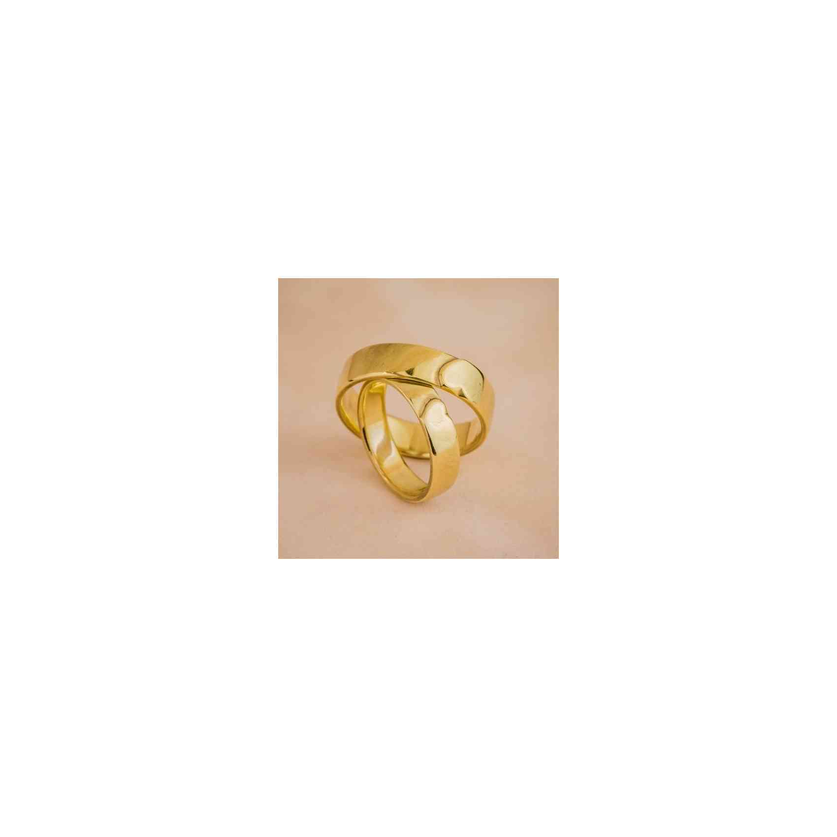 Set Verighete Heart din Aur 14K