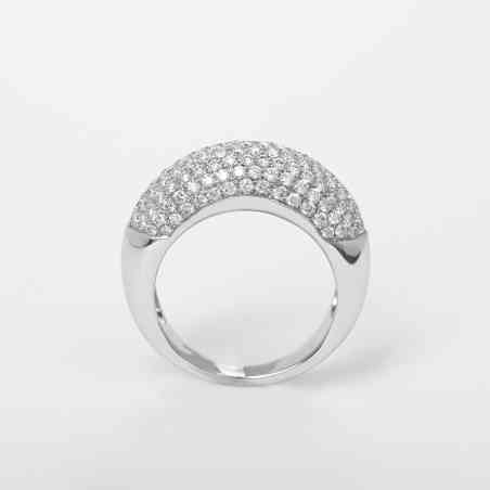 Inel din Aur Alb de 14K cu Diamante