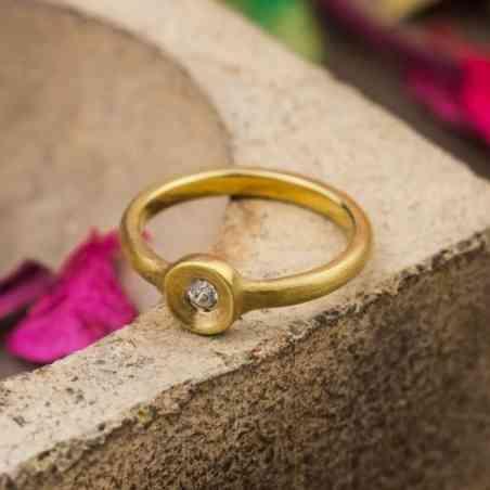 Inel Aur 14K cu Diamant