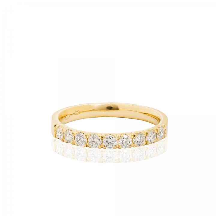 Inel din Aur Galben 14K cu Diamante