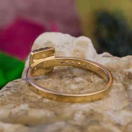 Inel Logodnă Aur 18K cu Diamante