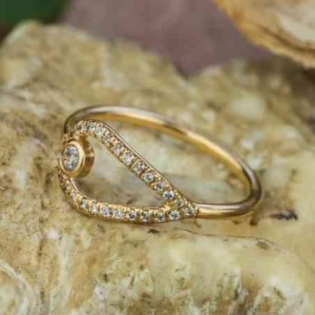Inel logodna Aur 14K cu Diamante
