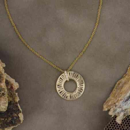 Colier din Aur Alb, Galben și Roz de 14K și Diamante