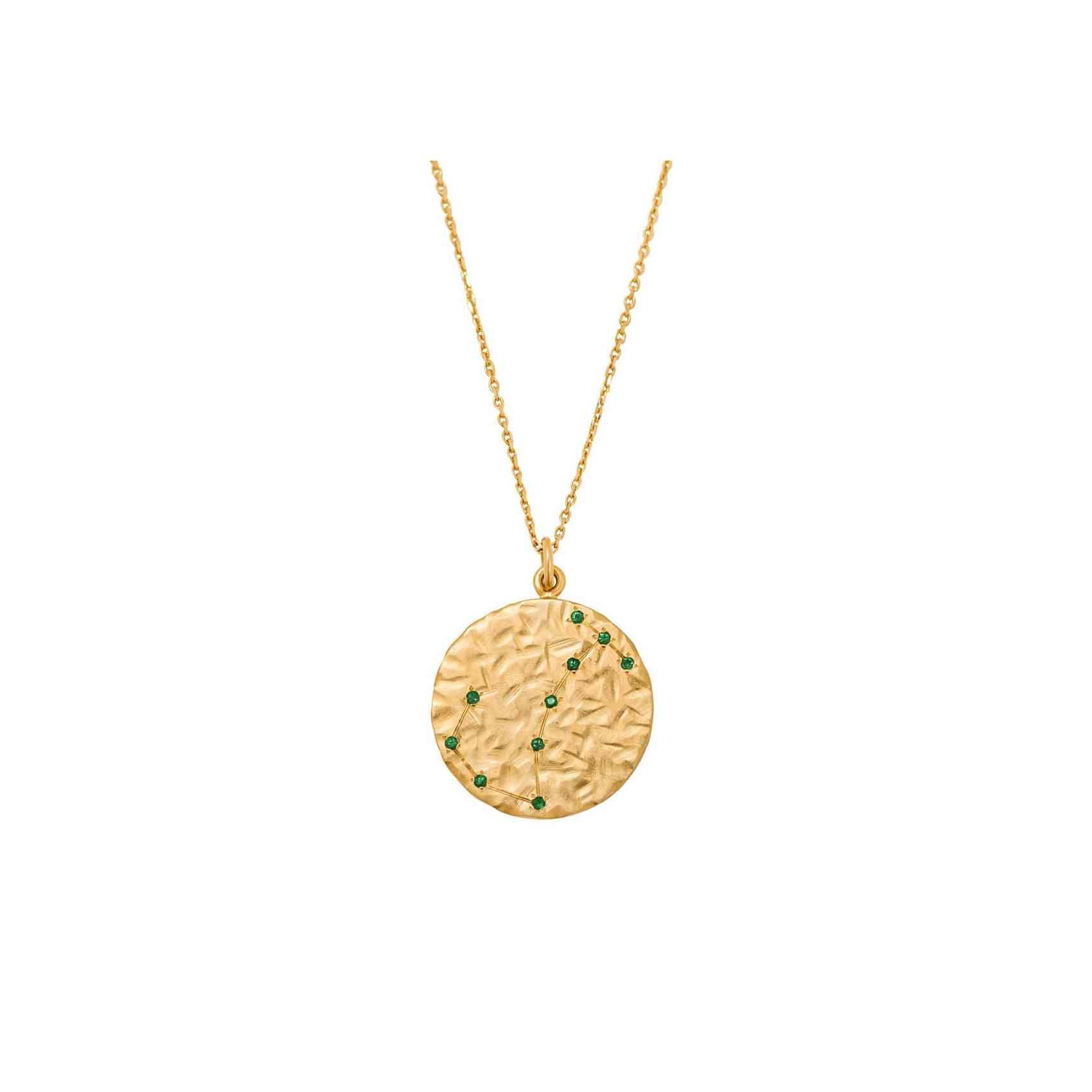 Colier Constelatie din Aur Galben 14K cu Smaralde