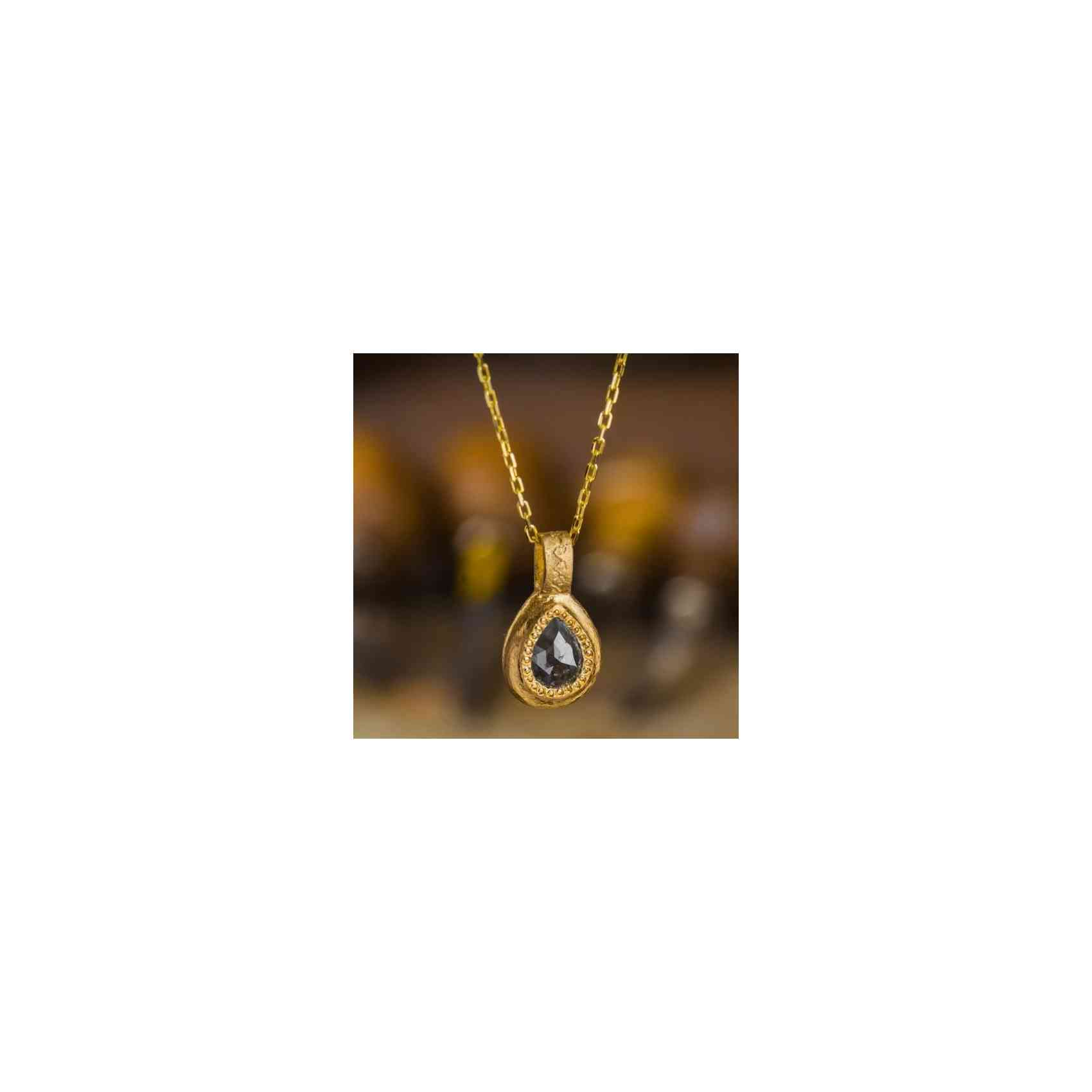 Colier și Pandantiv Aur 18K cu Diamant brut