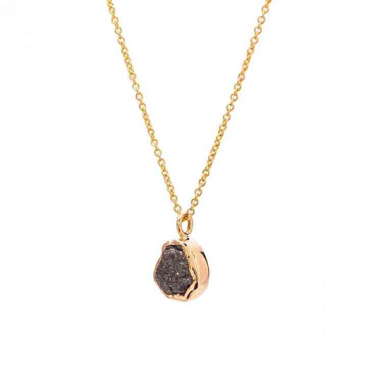 Colier Aur Galben 14K cu Diamant Brut