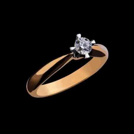 Inel de logodna din Aur și Alb 18k cu Diamant