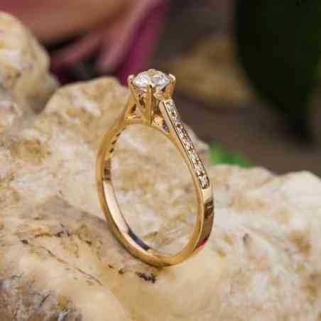 Inel de Logodna din Aur 14k cu Diamante