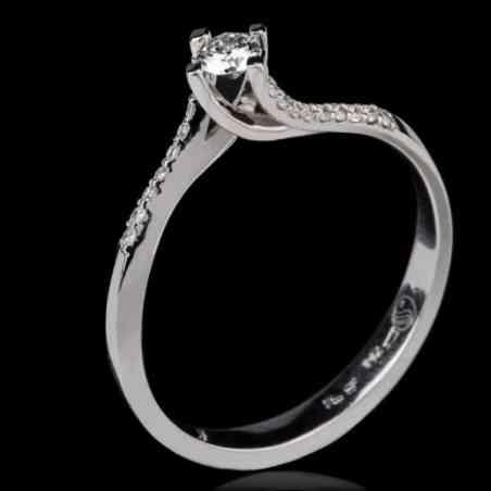 Inel de Logodnă din Aur Alb 18k cu Diamante