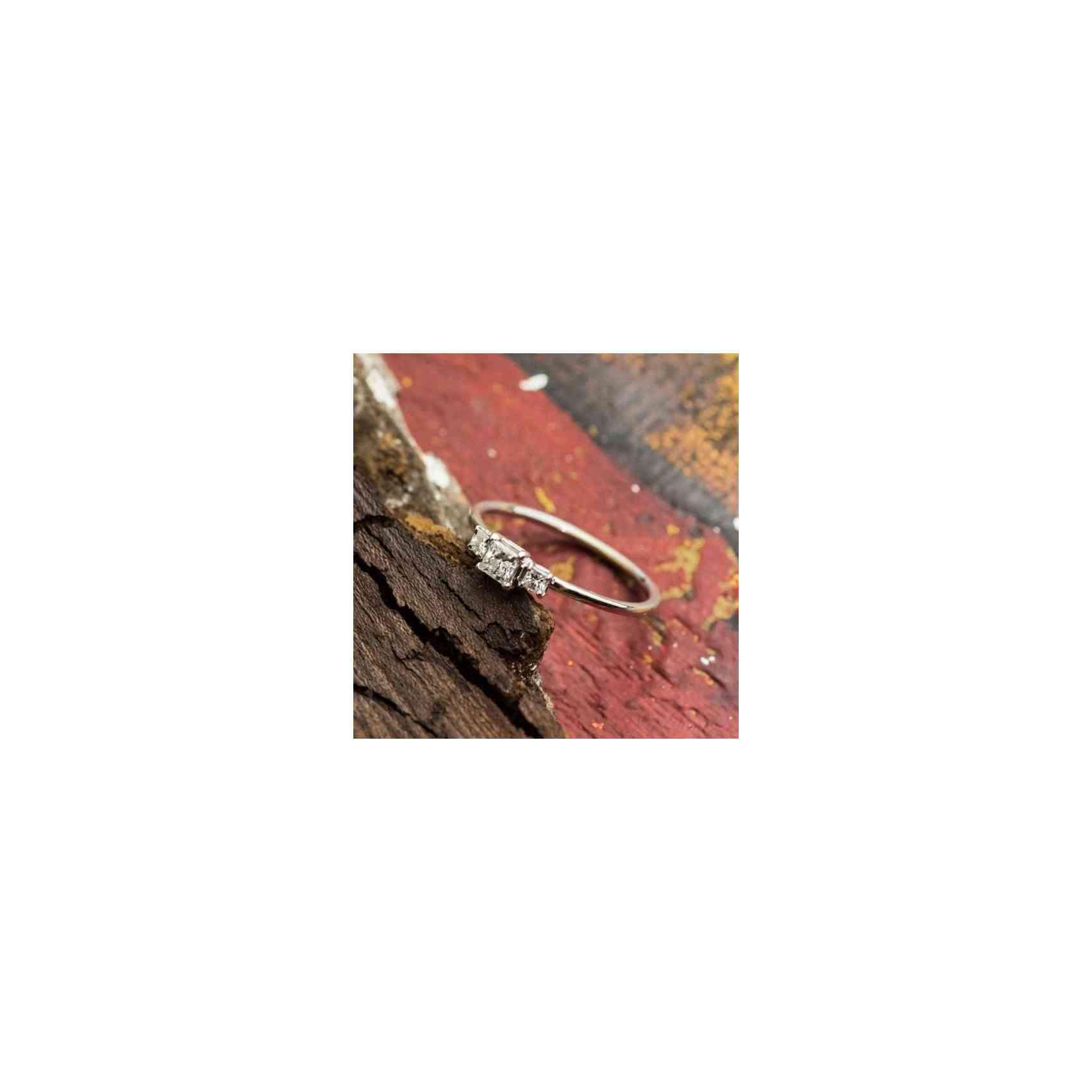 Inel de Logodna din Aur Alb 18k cu Diamante