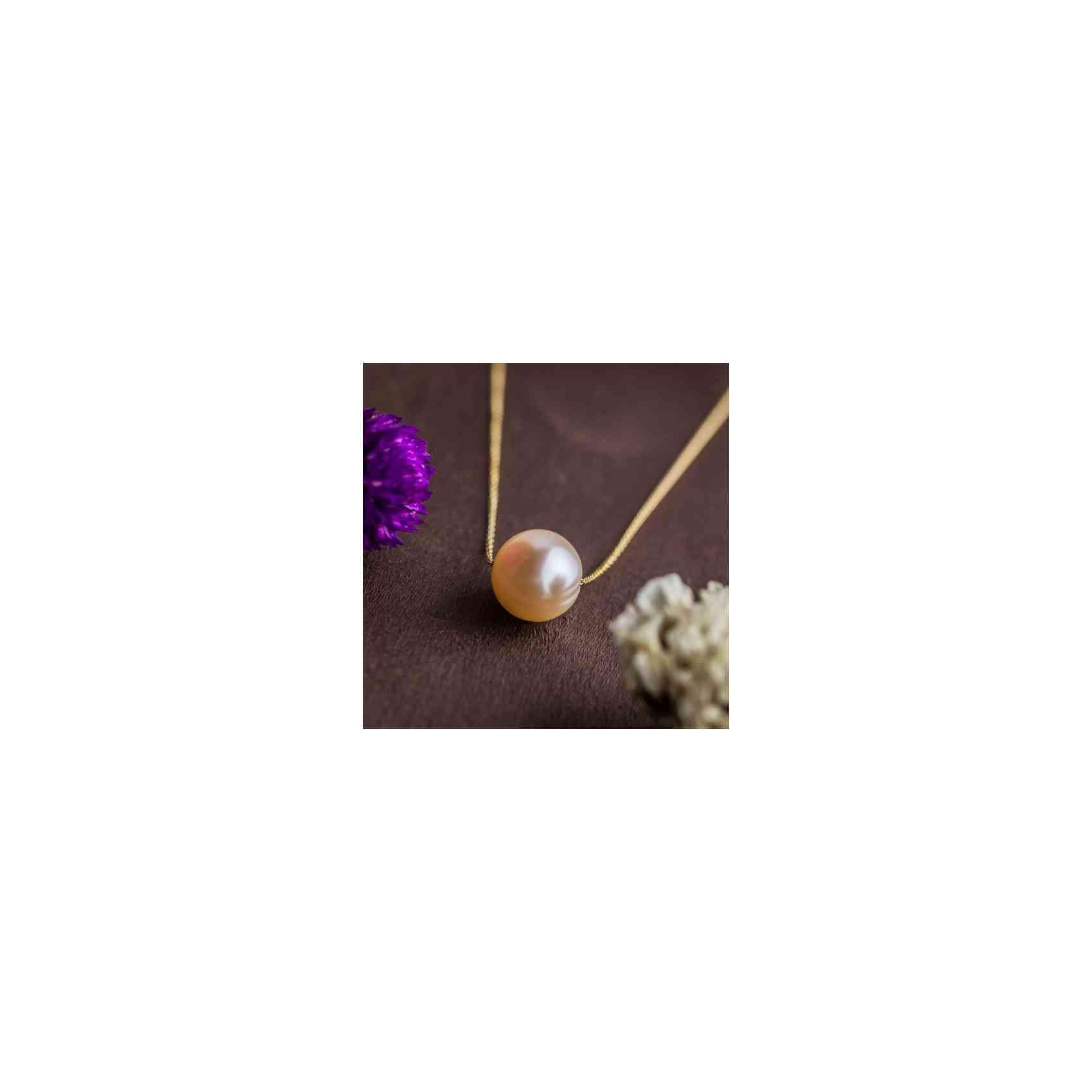 Colier Aur 14k și Perlă de Cultură Roz