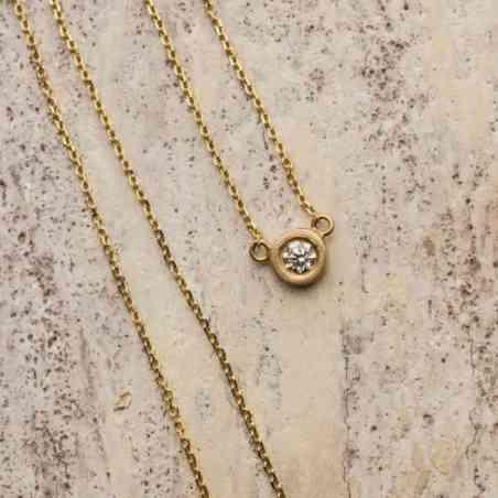 Colier din Aur 14k cu Diamant Alb