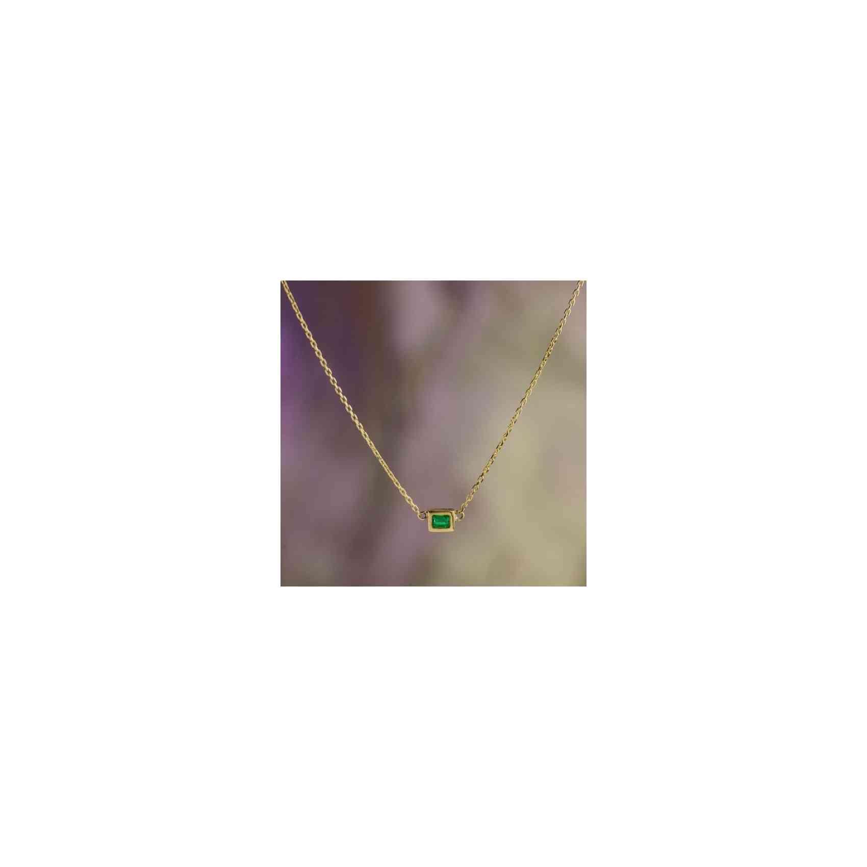Colier din Aur 14k cu Smarald
