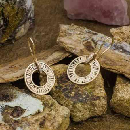 Cercei Aur Roz și Alb 14k cu Diamante
