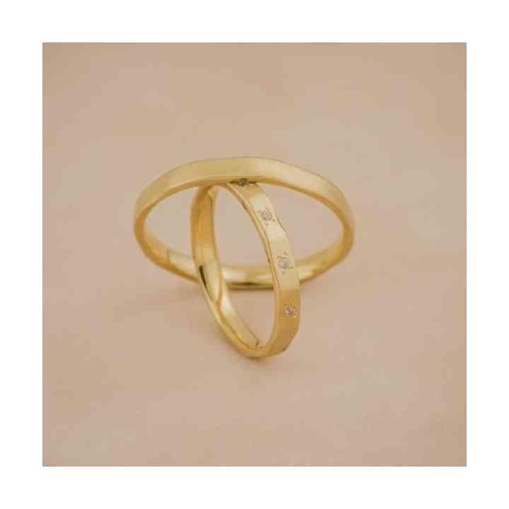 Set Verighete Yria din Aur 14K cu Diamante