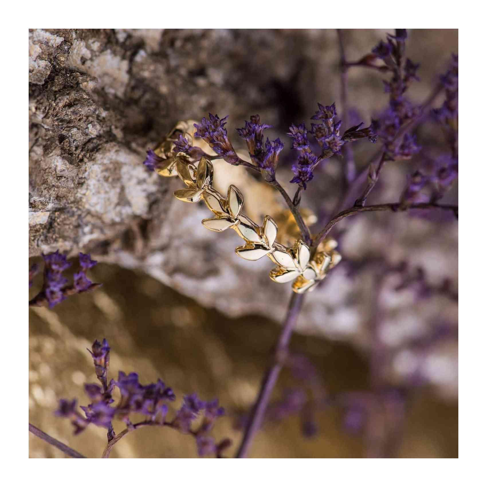 Inel din Aur Galben 18K - Leaf Eternity