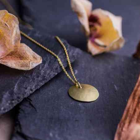 Colier si Pandantiv din Aur Galben 14K cu Diamant
