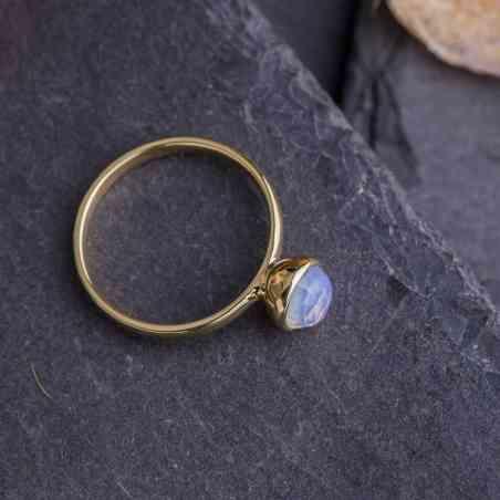 Inel din Aur Galben 14 K cu Opal