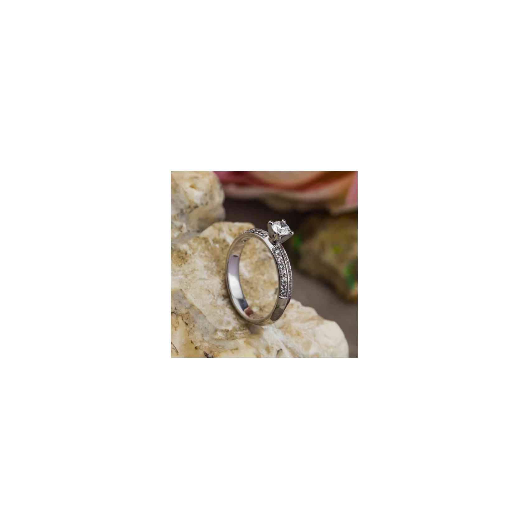 Inel Logodnă Aur Alb 18K Diamant