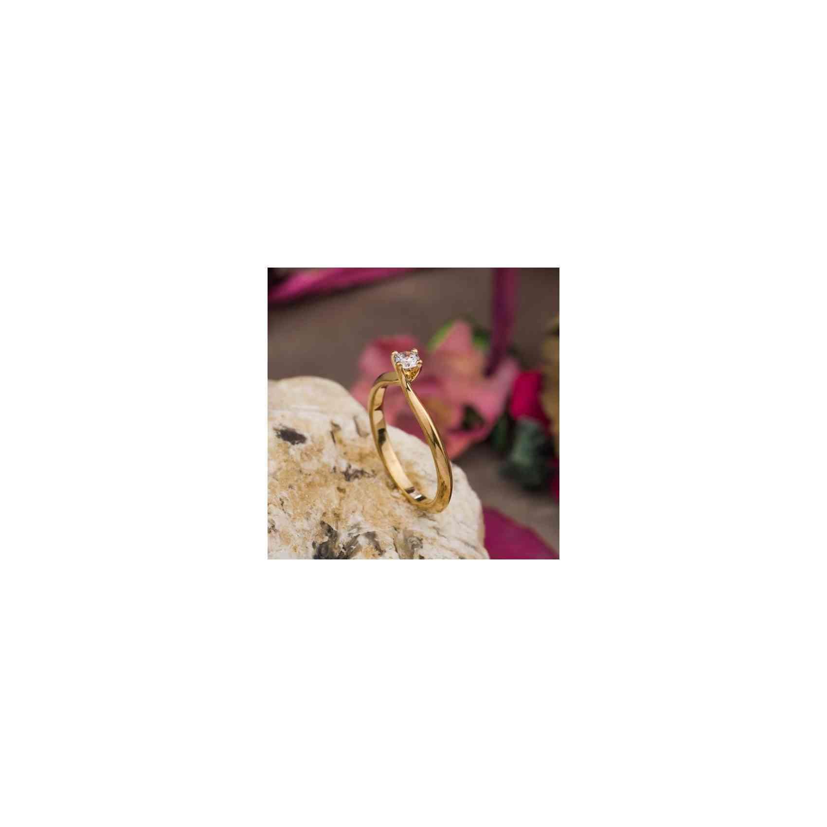 Inel Logodnă Aur 18K și Diamant Alb