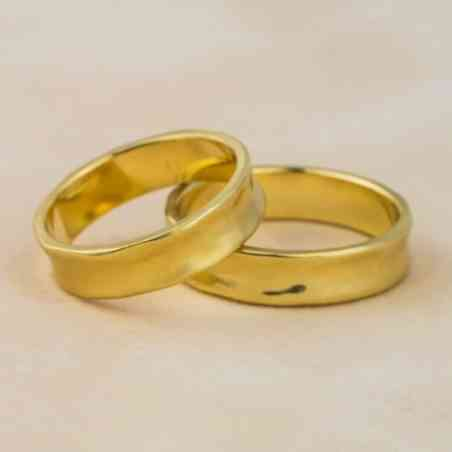 Set Verighete Adir Yellow din Aur 14K