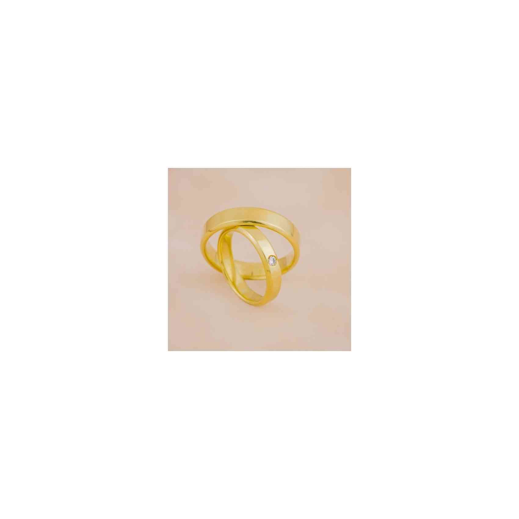 Set Verighete Agam din Aur 14K cu Diamant Alb