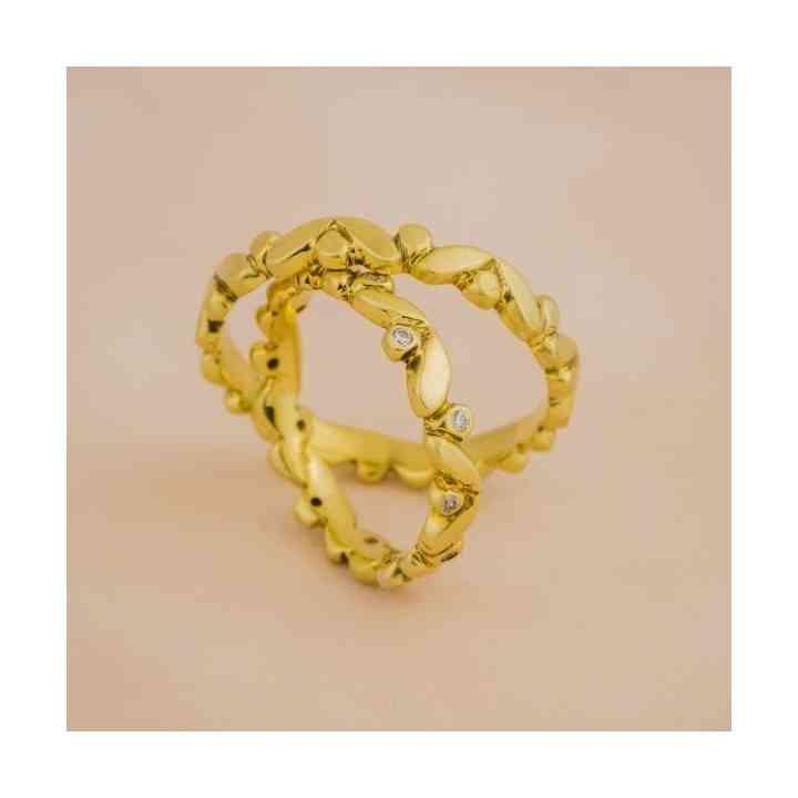 Set Verighete Orly Aur 14K cu Diamante