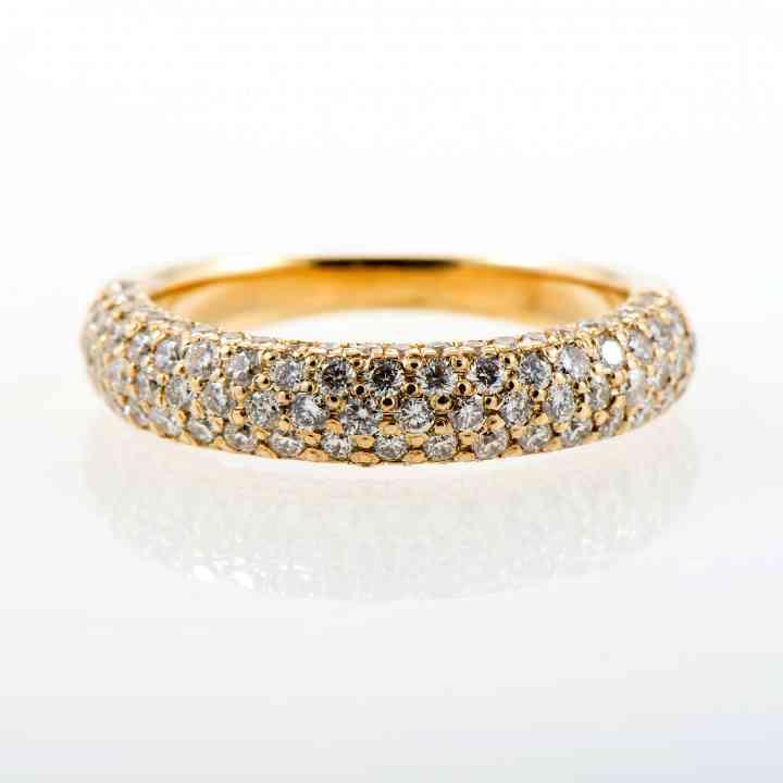 Inel Model Unicat Din Aur Galben 18K cu Diamante